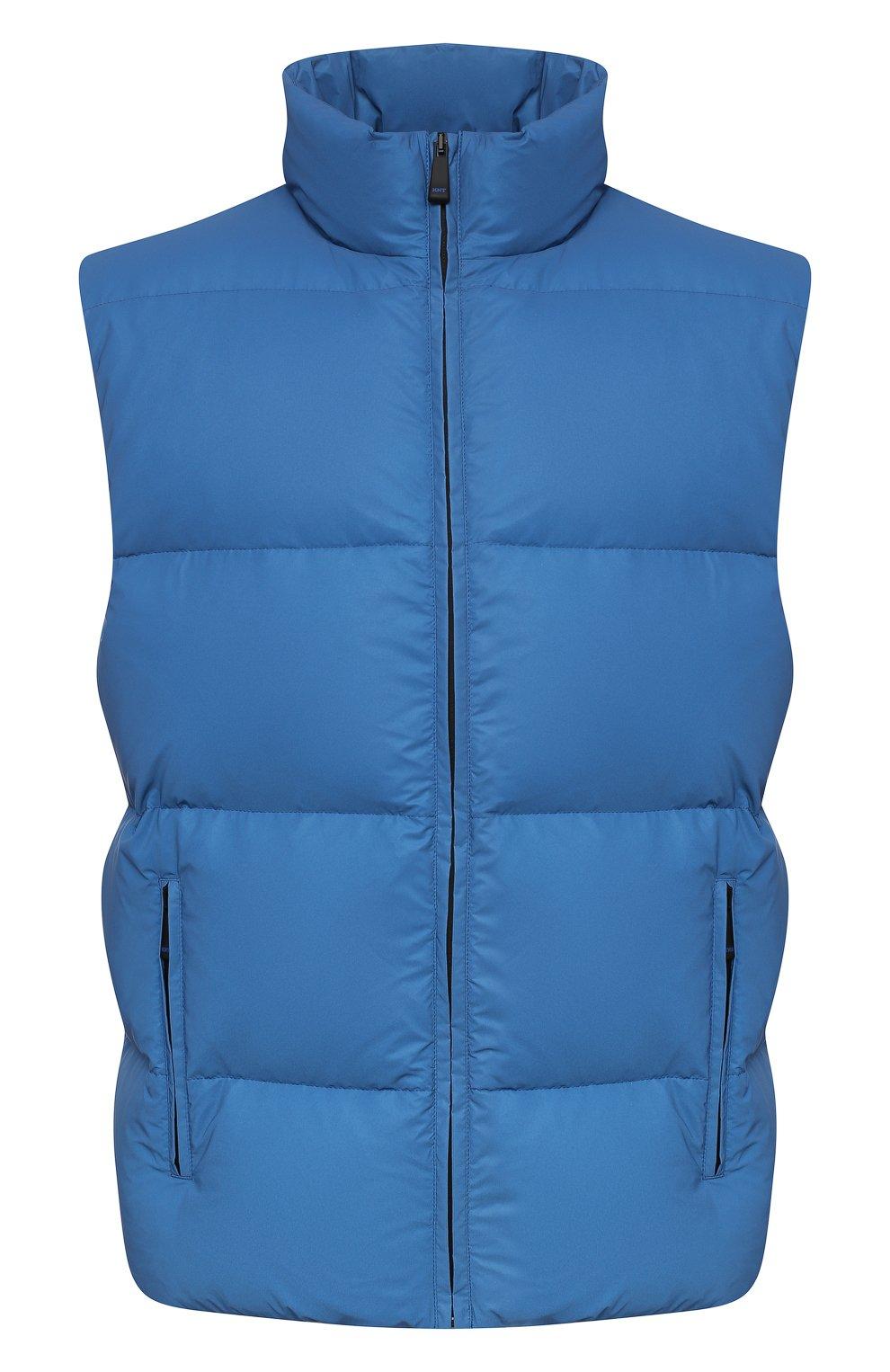 Мужской пуховый жилет KNT голубого цвета, арт. UGKN005X03T35   Фото 1