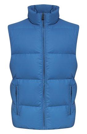 Мужской пуховый жилет KNT голубого цвета, арт. UGKN005X03T35 | Фото 1