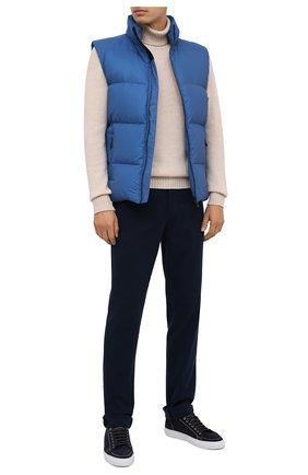 Мужской пуховый жилет KNT голубого цвета, арт. UGKN005X03T35   Фото 3