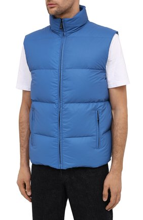 Мужской пуховый жилет KNT голубого цвета, арт. UGKN005X03T35   Фото 4