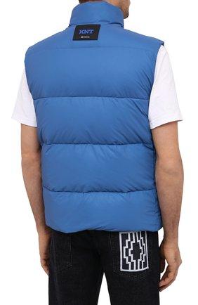 Мужской пуховый жилет KNT голубого цвета, арт. UGKN005X03T35   Фото 5