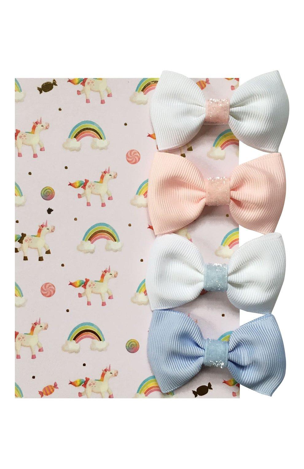 Детская комплект из 4-х заколок MILLEDEUX разноцветного цвета, арт. A39 | Фото 3