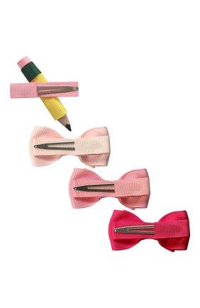 Детская комплект из 4-х заколок MILLEDEUX розового цвета, арт. BTS1-01 | Фото 2