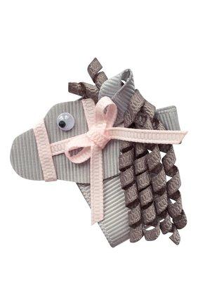 Детская заколка-зажим лошадка MILLEDEUX серого цвета, арт. Horse-009 | Фото 1