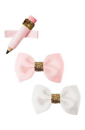 Детская комплект из трех заколок MILLEDEUX розового цвета, арт. SCG02 | Фото 1