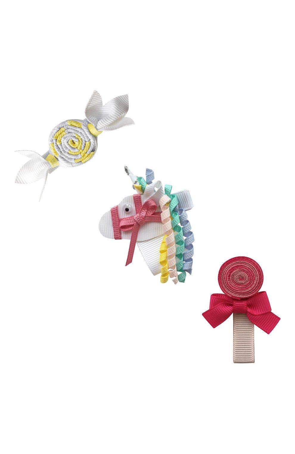 Детская комплект из трех заколок MILLEDEUX разноцветного цвета, арт. Unicorn- H-07 | Фото 1