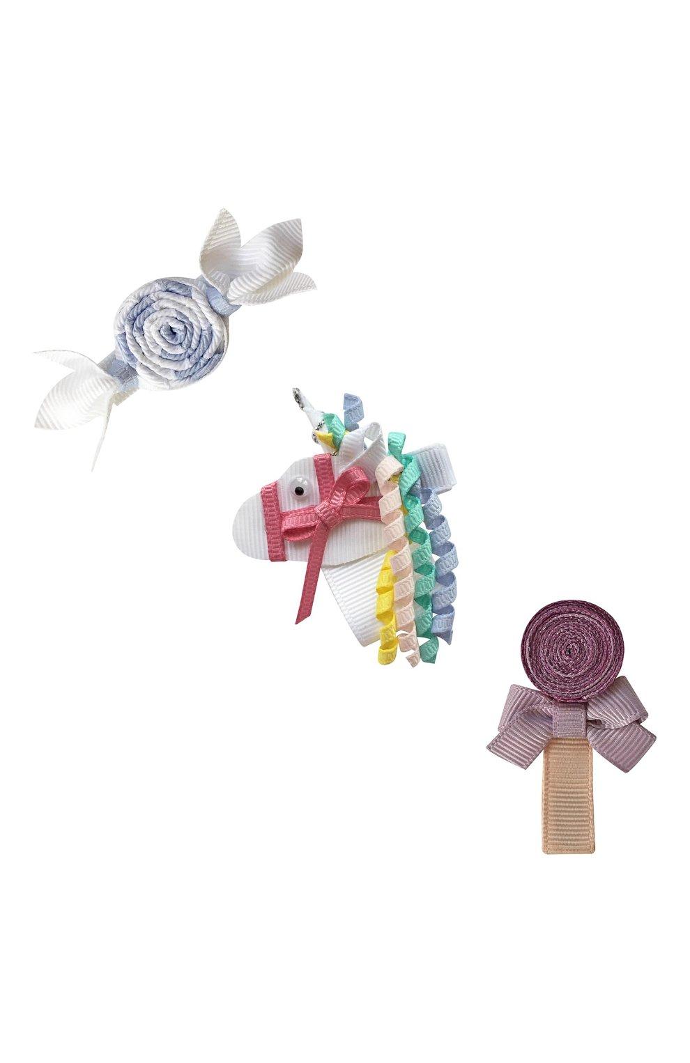 Детская комплект из трех заколок MILLEDEUX разноцветного цвета, арт. Unicorn- H-08 | Фото 1