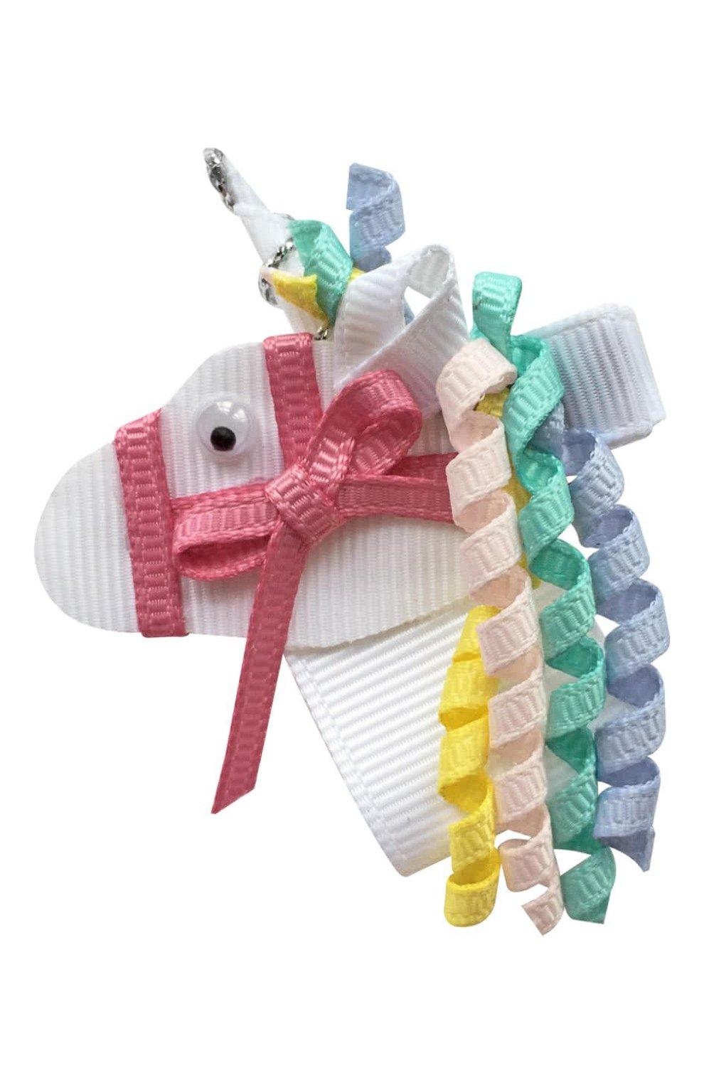 Детская заколка-зажим единорог MILLEDEUX белого цвета, арт. Unicorn-029 | Фото 1