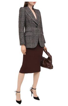 Женская юбка-миди DOLCE & GABBANA коричневого цвета, арт. F4A1FT/FURDV | Фото 2