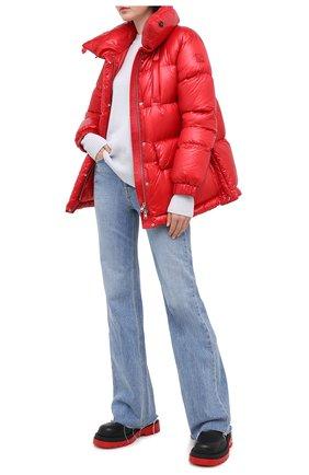 Женский пуховик WOOLRICH красного цвета, арт. CFWW0U0282FR/UT1702   Фото 2