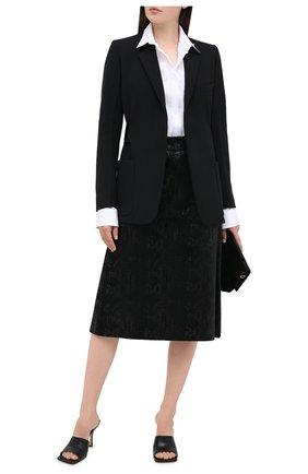 Женская юбка из вискозы и шелка SAINT LAURENT черного цвета, арт. 630863/Y744N   Фото 2