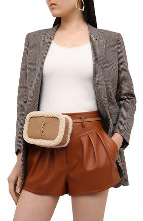 Женская поясная сумка lou SAINT LAURENT бежевого цвета, арт. 614040/BT08W   Фото 2