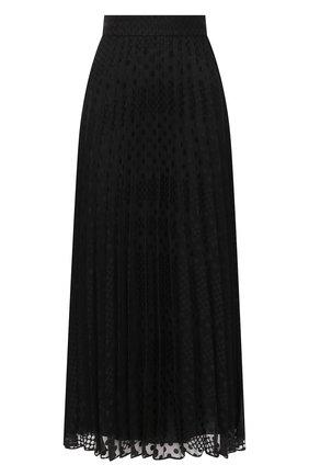 Женская плиссированная юбка EMPORIO ARMANI черного цвета, арт. 6H2N67/2NMBZ | Фото 1