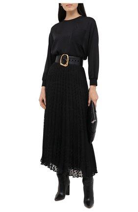 Женская плиссированная юбка EMPORIO ARMANI черного цвета, арт. 6H2N67/2NMBZ | Фото 2
