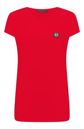 Женская футболка PHILIPP PLEIN красного цвета, арт. F20C WTK2082 PJY002N | Фото 1