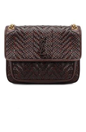 Женская сумка niki medium SAINT LAURENT темно-коричневого цвета, арт. 633158/10F1W   Фото 1