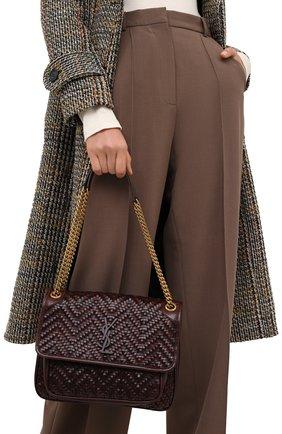 Женская сумка niki medium SAINT LAURENT темно-коричневого цвета, арт. 633158/10F1W   Фото 2