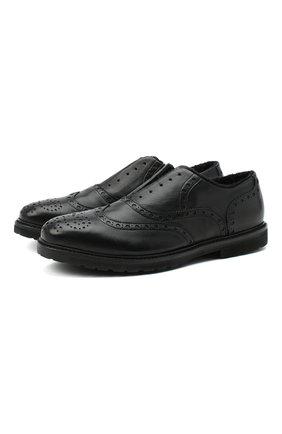 Мужские кожаные оксфорды ROCCO P. черного цвета, арт. 7019/BISH0ND0 | Фото 1