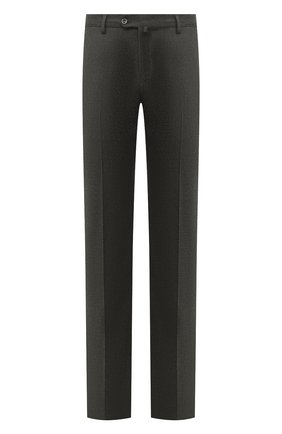 Мужские брюки из шерсти и кашемира LORO PIANA серого цвета, арт. FAI3433 | Фото 1 (Длина (брюки, джинсы): Стандартные; Материал внешний: Шерсть; Случай: Формальный; Стили: Классический; Материал подклада: Синтетический материал)