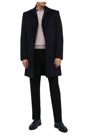 Мужской кожаные дерби MORESCHI темно-синего цвета, арт. 43560/SD/B0RG0GNA/F.LANA | Фото 2