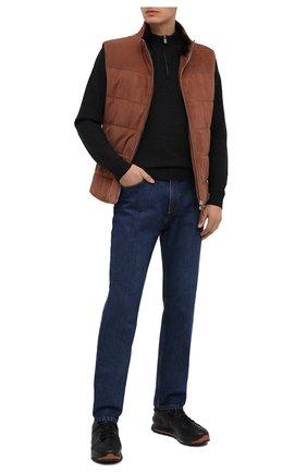 Мужские кожаные кроссовки ERMENEGILDO ZEGNA черного цвета, арт. A4402X-LHSRE | Фото 2