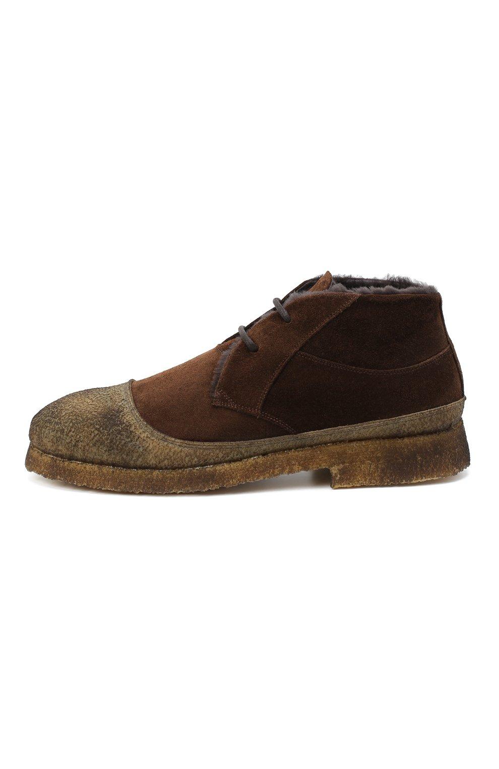 Мужские комбинированные ботинки ROCCO P. темно-коричневого цвета, арт. 9300/SENS0RY | Фото 3