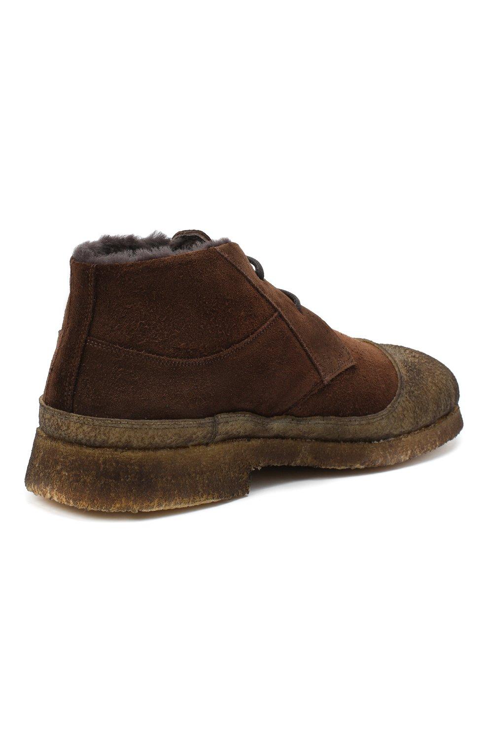 Мужские комбинированные ботинки ROCCO P. темно-коричневого цвета, арт. 9300/SENS0RY | Фото 4