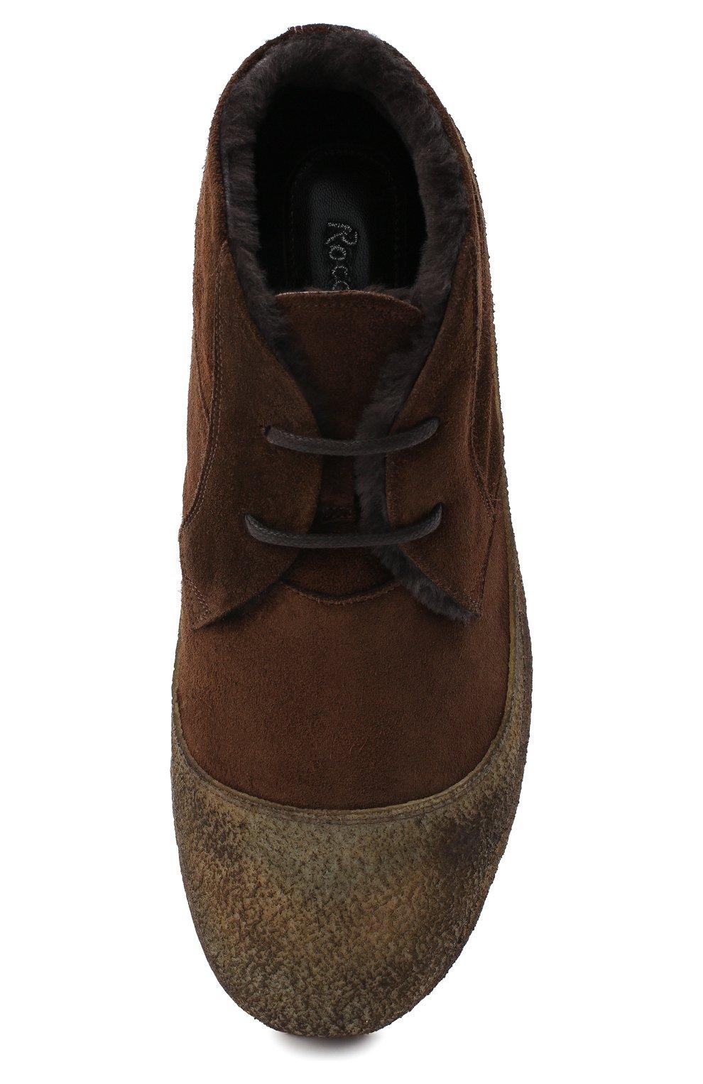 Мужские комбинированные ботинки ROCCO P. темно-коричневого цвета, арт. 9300/SENS0RY | Фото 5
