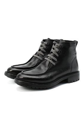 Мужские кожаные ботинки ALEXANDER HOTTO черного цвета, арт. 58037/RIDER TE | Фото 1