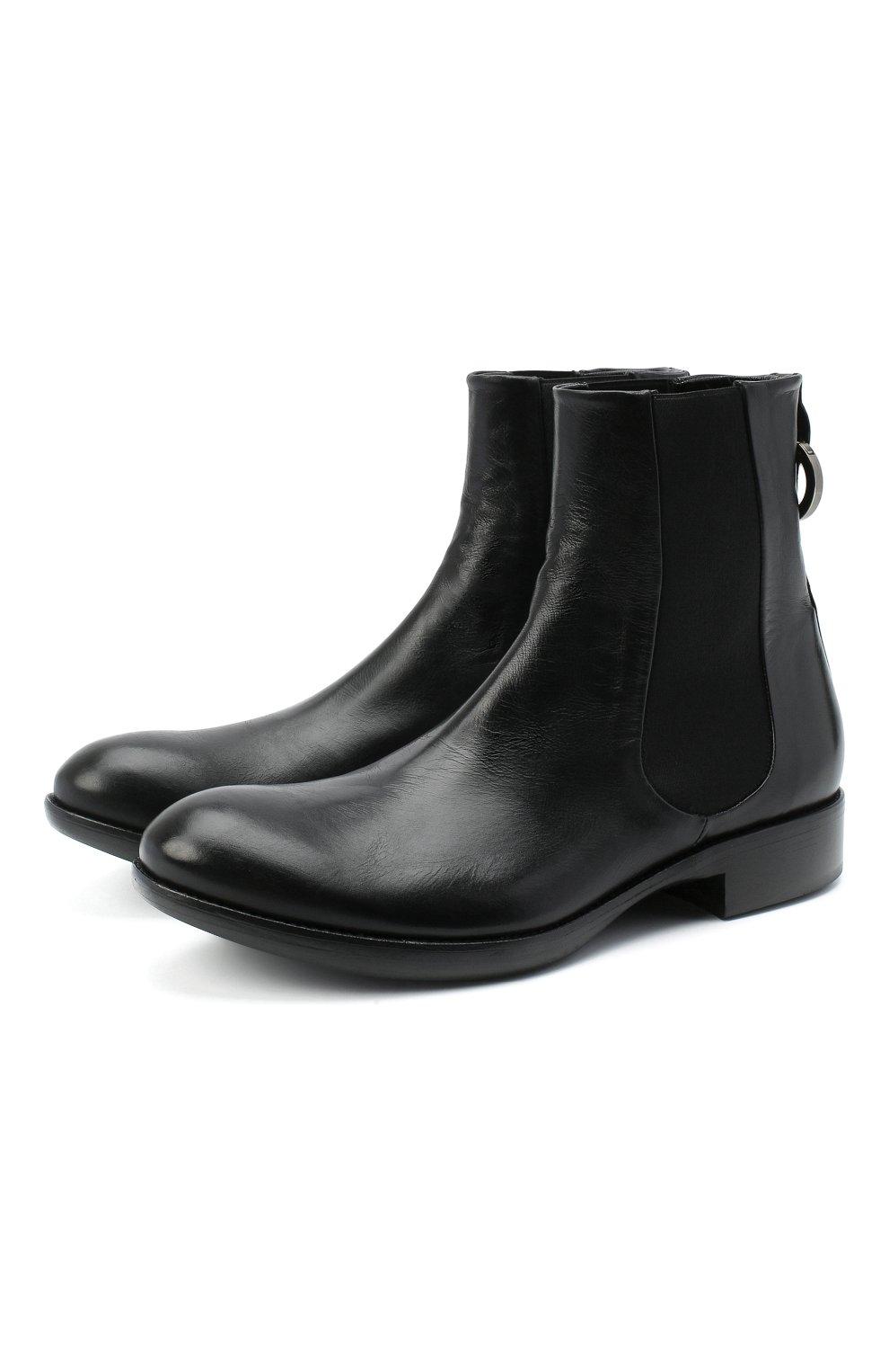 Мужские кожаные челси ROCCO P. черного цвета, арт. 11025/TRIP0N | Фото 1