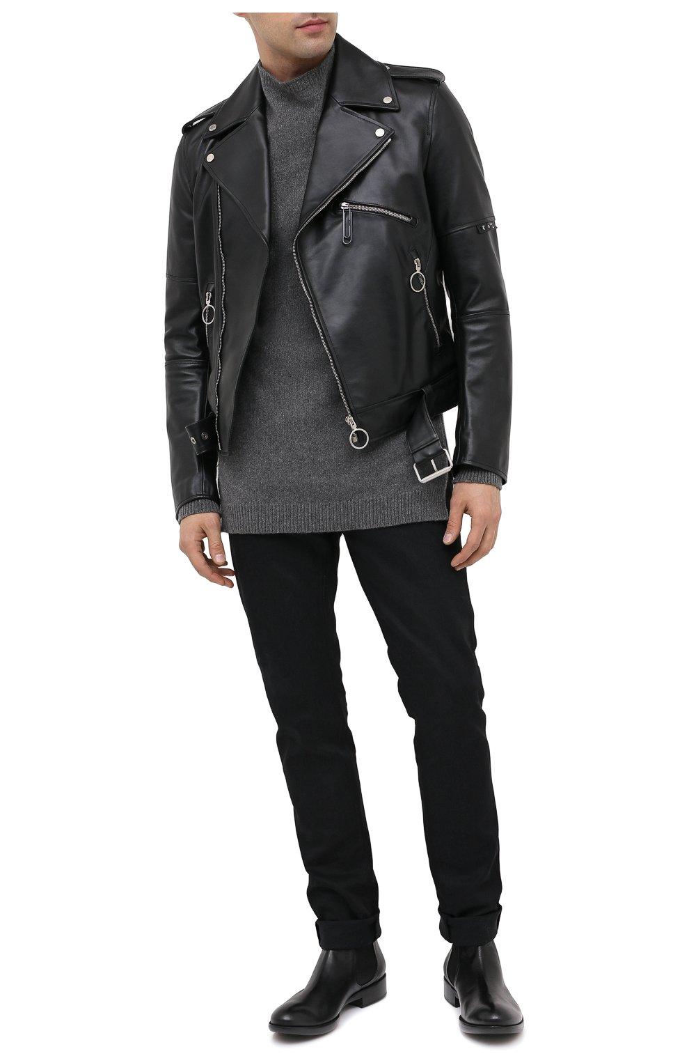 Мужские кожаные челси ROCCO P. черного цвета, арт. 11025/TRIP0N | Фото 2