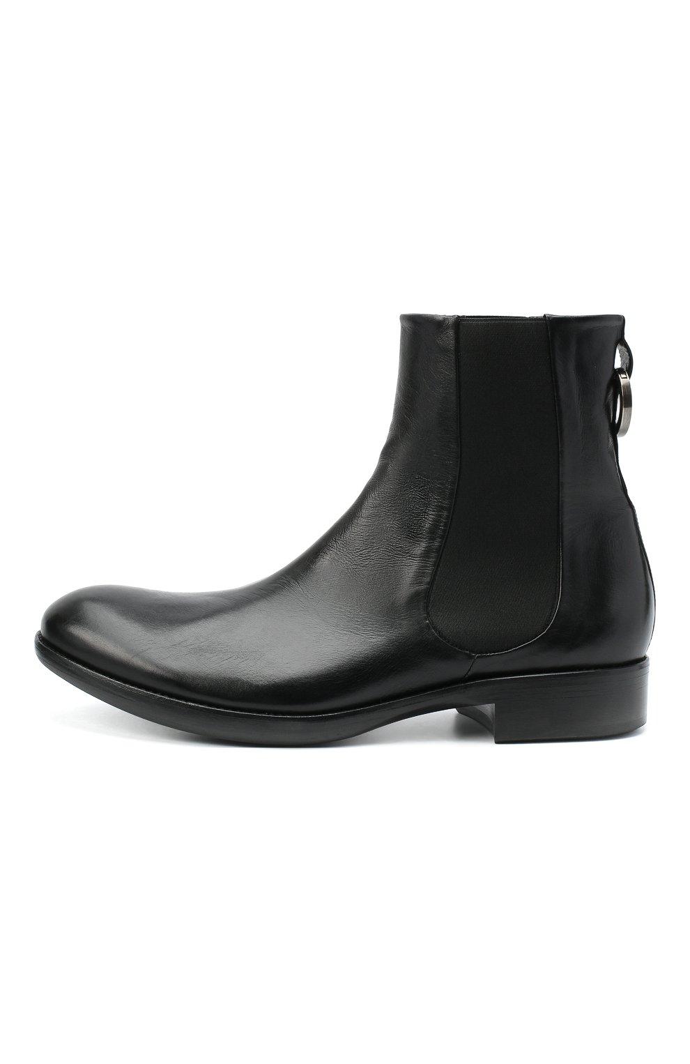 Мужские кожаные челси ROCCO P. черного цвета, арт. 11025/TRIP0N | Фото 3