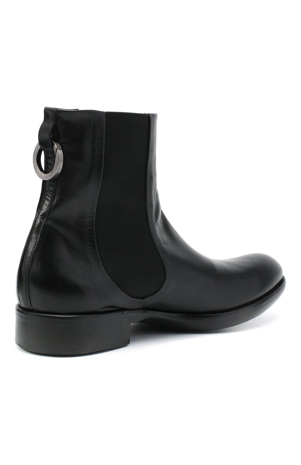 Мужские кожаные челси ROCCO P. черного цвета, арт. 11025/TRIP0N | Фото 4