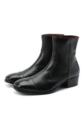Мужские кожаные сапоги ROCCO P. черного цвета, арт. 11030/TRIP0N | Фото 1