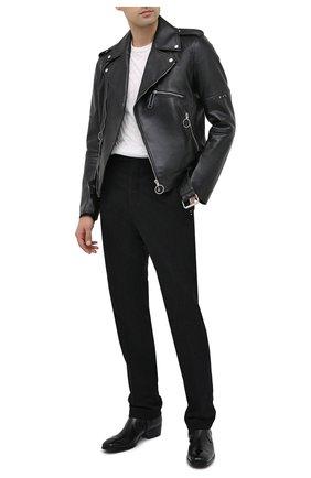 Мужские кожаные сапоги ROCCO P. черного цвета, арт. 11030/TRIP0N | Фото 2