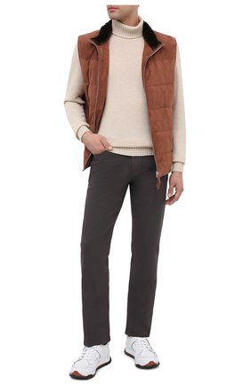 Мужские джинсы BRIONI коричневого цвета, арт. SPNJ0M/08T01/STELVI0 | Фото 2