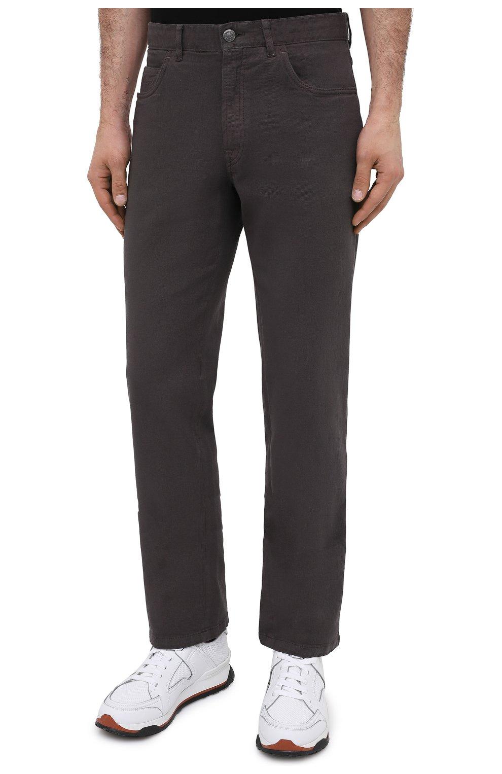 Мужские джинсы BRIONI коричневого цвета, арт. SPNJ0M/08T01/STELVI0 | Фото 4