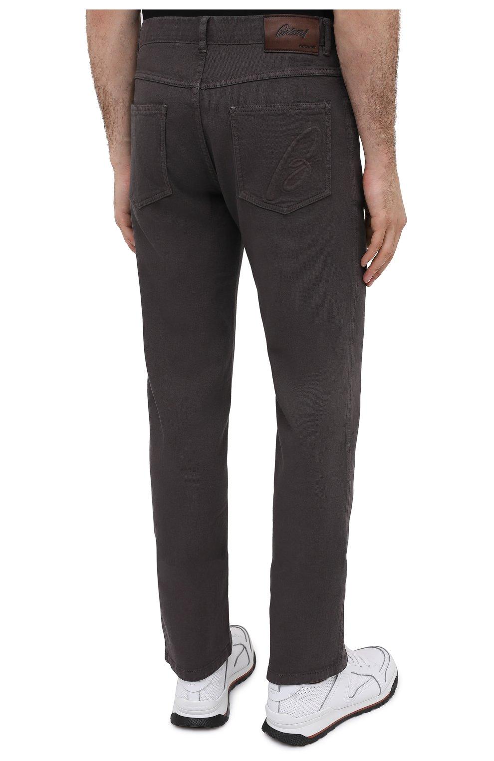 Мужские джинсы BRIONI коричневого цвета, арт. SPNJ0M/08T01/STELVI0 | Фото 5