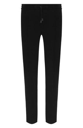 Мужские хлопковые брюки BRIONI черного цвета, арт. RPM20L/09043/NEW SIDNEY   Фото 1 (Длина (брюки, джинсы): Стандартные; Материал внешний: Хлопок; Мужское Кросс-КТ: Брюки-трикотаж; Случай: Повседневный; Стили: Спорт-шик)