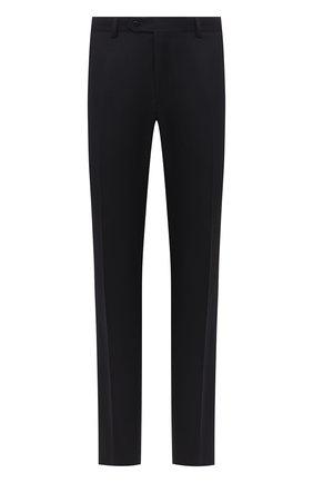 Мужские шерстяные брюки BRIONI черного цвета, арт. RPL20R/09AF9/M0ENA   Фото 1
