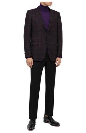 Мужские шерстяные брюки BRIONI черного цвета, арт. RPL20R/09AF9/M0ENA   Фото 2