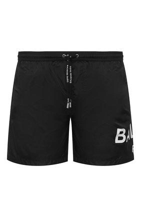 Детского плавки-шорты BALMAIN черного цвета, арт. BWB640080 | Фото 1