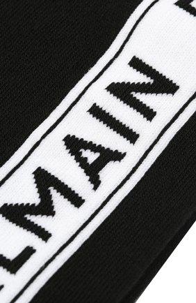 Мужские хлопковые носки BALMAIN черного цвета, арт. BUV120020 | Фото 2