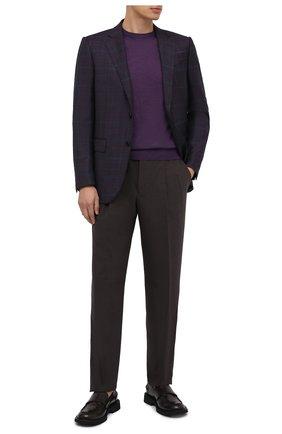 Мужской шерстяные брюки GIORGIO ARMANI темно-коричневого цвета, арт. 0SGPP0BF/T01Y5 | Фото 2