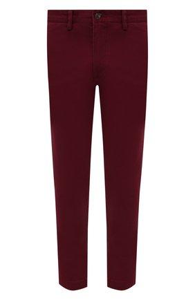 Мужской хлопковые брюки POLO RALPH LAUREN бордового цвета, арт. 710704176 | Фото 1