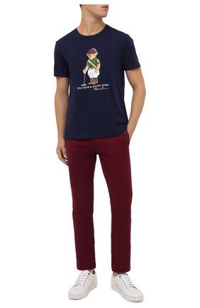 Мужской хлопковые брюки POLO RALPH LAUREN бордового цвета, арт. 710704176 | Фото 2