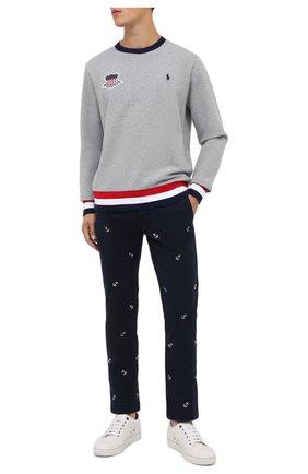 Мужской хлопковые брюки POLO RALPH LAUREN темно-синего цвета, арт. 710803620 | Фото 2