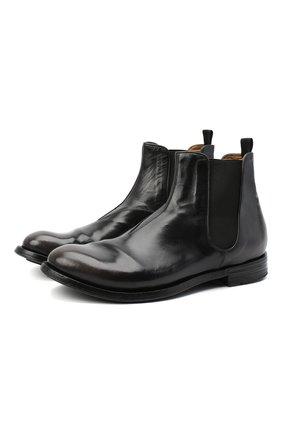 Мужские кожаные челси OFFICINE CREATIVE черного цвета, арт. ANAT0MIA/14/0LD BUFAL0 | Фото 1