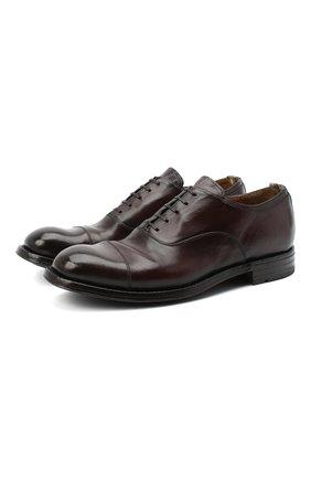 Мужские кожаные оксфорды OFFICINE CREATIVE темно-коричневого цвета, арт. BALANCE/006/AER0 BUFAL0 | Фото 1