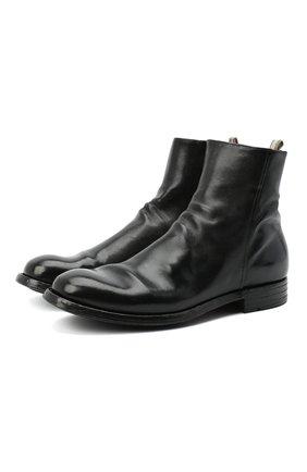 Мужские кожаные сапоги OFFICINE CREATIVE черного цвета, арт. BALANCE/007/AER0 BUFAL0 | Фото 1